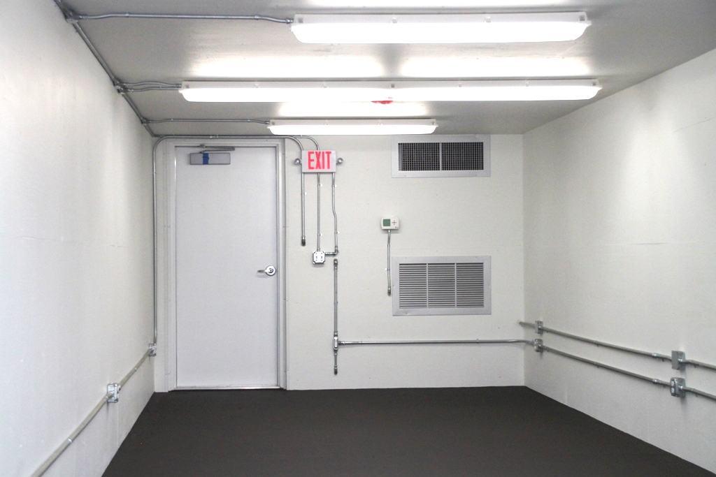 Blast resistant shelter white interior 2