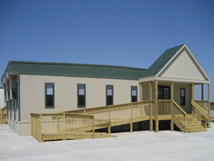 Exterior of installed modular building.
